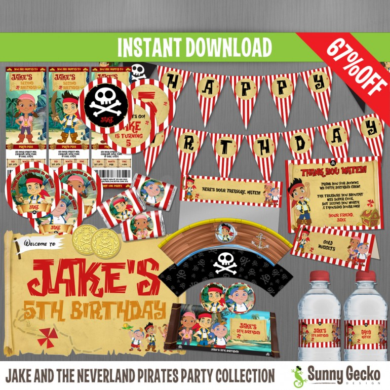 Jake and the Neverland Pirates Birthday Party Collection
