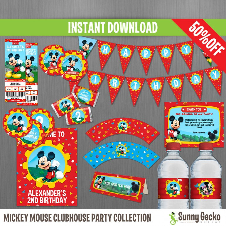 Mickey Mouse Clubhouse Birthday Party Collection