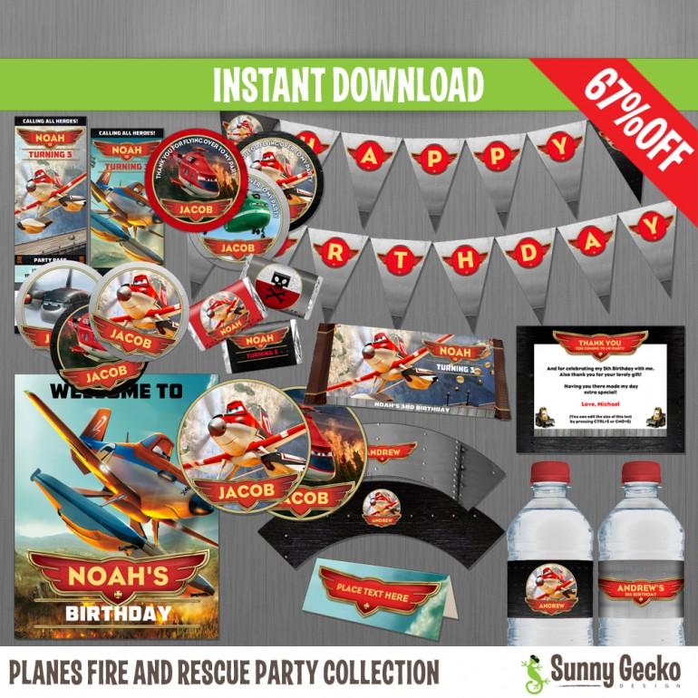 Planes Fire and Rescue Birthday Party Collection