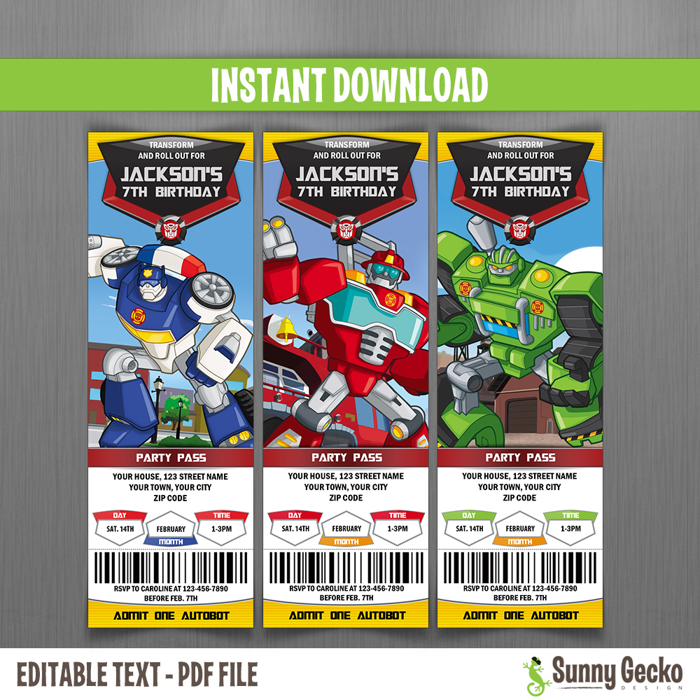 Transformers Rescue Bots Ticket